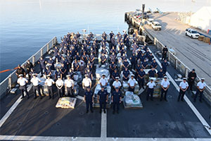 Coast Guard offloads $721 million worth of cocaine in San Diego