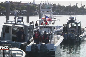 Law enforcement set sail for Gasparilla