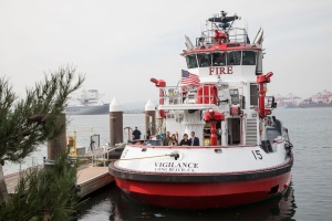 Long Beach: Port Dedicates Second Advanced Fireboat