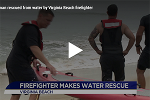 Virginia Beach firefighters rescue swimmer in distress